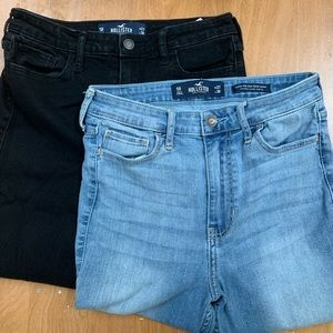 2 pairs Hollister High Rise Skinny Jeans